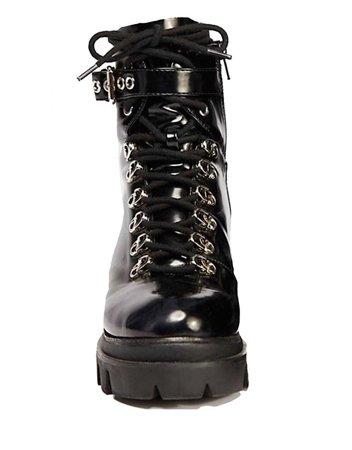 black chunky boots