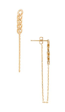 Natalie B Jewelry Lennox Chain Earring in Gold | REVOLVE