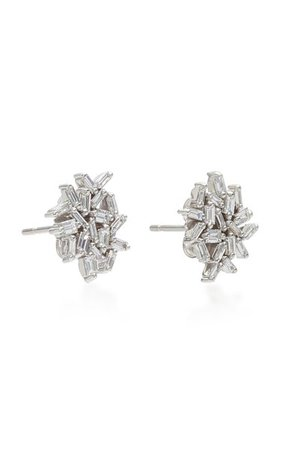 18k White Gold Diamond Earrings By Suzanne Kalan | Moda Operandi
