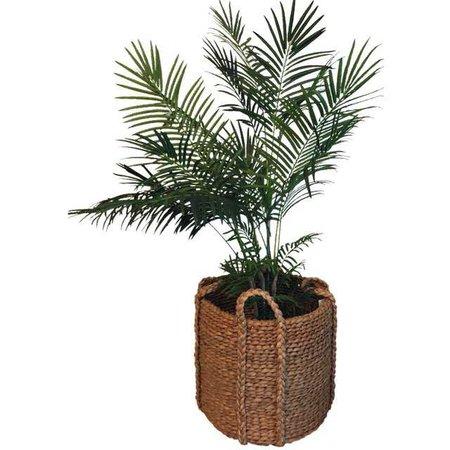 Ralph Lauren Silk Palm & Basket | Chairish