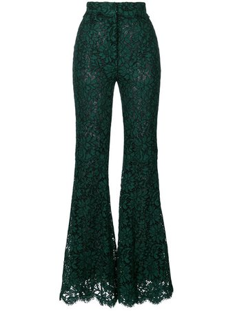 Dolce & Gabbana Flared Lace Trousers
