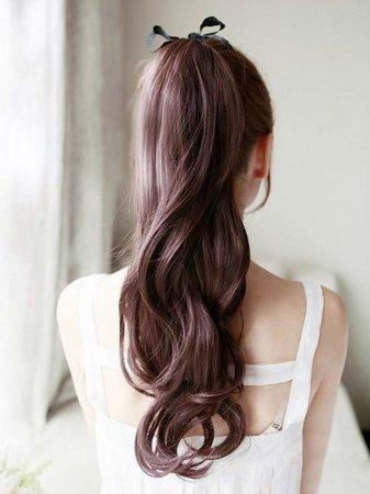 Brown Hair Ponytail Bow