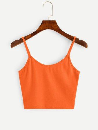 orange cropped cami