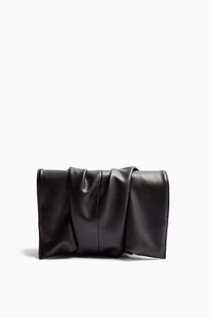 RUBY Black Ruched Clutch Bag | Topshop
