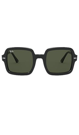 Ray-Ban Square Acetate in Black & Grey | REVOLVE