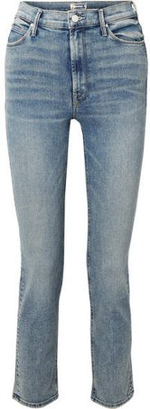 The Dazzler High-rise Straight-leg Jeans - Blue