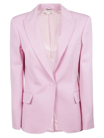 Stella McCartney Stella Mccartney Single Breasted Blazer - Tulip Pink - 10796404 | italist