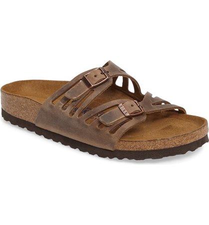 Birkenstock Granada Soft Footbed Oiled Leather Sandal (Women) | Nordstrom