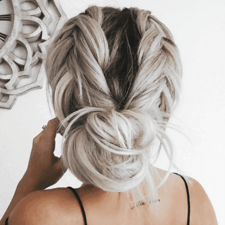 Loose-Braids-and-Low-Bun-Hairstyles.png (500×500)