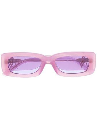 Linda Farrow x The Attico rectangular frame sunglasses pink ATTICO16C2SUN - Farfetch
