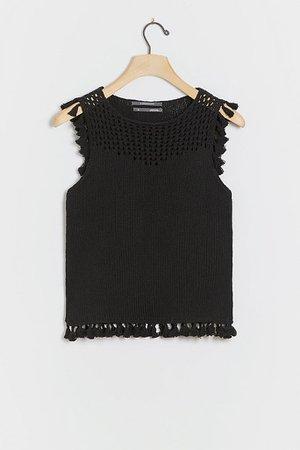 Daniela Tasseled Knit Tank | Anthropologie