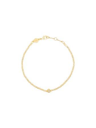 Shop Anni Lu 18kt gold plated brass Balani gemstone bracelet with Express Delivery - FARFETCH