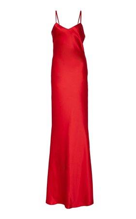 Ralph Lauren Evelyn Satin Evening Dress