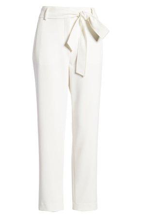 Halogen® Tie Waist Twill Pants (Regular & Petite)   Nordstrom