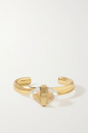 Gold Lumia gold-plated and crystal cuff | Tohum | NET-A-PORTER