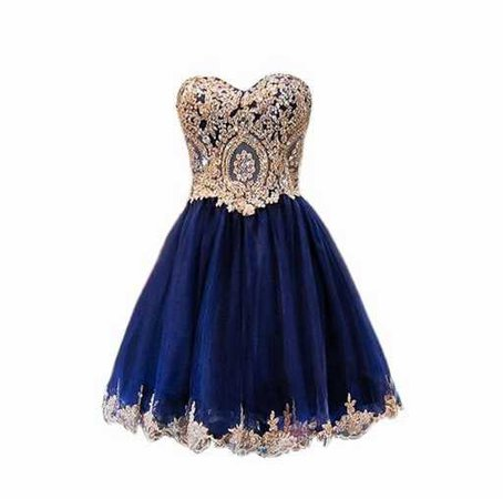 Blue and Gold Gown