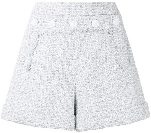 Buttoned Tweed Shorts