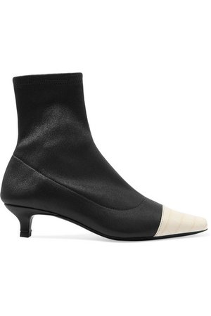 BY FAR | Karl two-tone stretch and croc-effect leather sock boots | NET-A-PORTER.COM