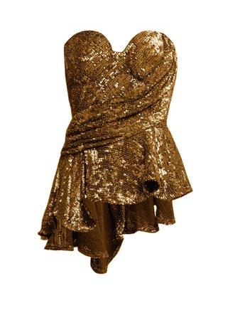 Krista sequinned peplum bustier top | Maria Lucia Hohan | MATCHESFASHION.COM