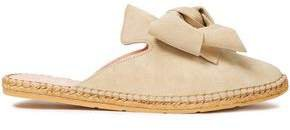 Hamptons Bow-embellished Suede Espadrille Slippers