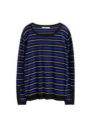 Violeta BY MANGO Fine-knit striped sweater
