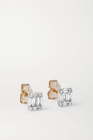 Gold Shield of Strength gold diamond earrings | STONE AND STRAND | NET-A-PORTER