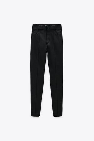 WAXED FINISH LEGGINGS | ZARA United States