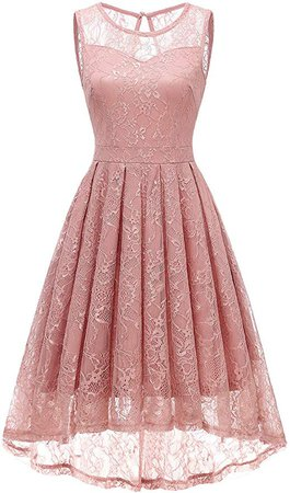 Amazon.com: Gardenwed Women's Vintage Lace High Low Bridesmaid Dress Sleeveless Cocktail Party Swing Dress: Clothing