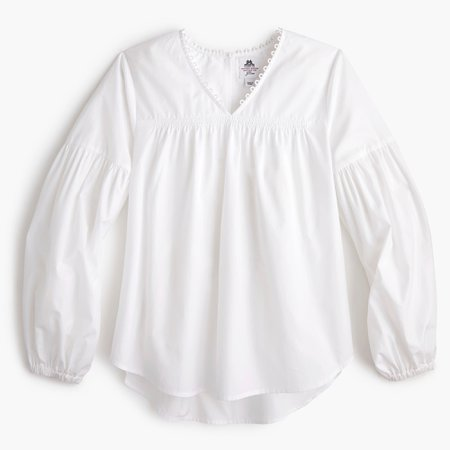 Thomas Mason® for J.Crew ruched popover shirt