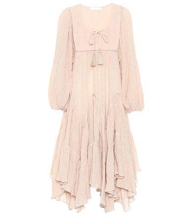 Bayou cotton-blend midi dress