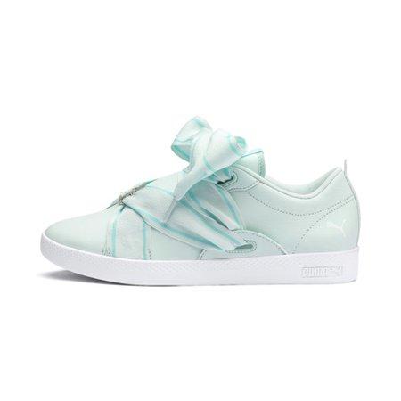 PUMA Smash Women's Buckle Sneakers | Fair Aqua-Puma White | PUMA Lows | PUMA United States