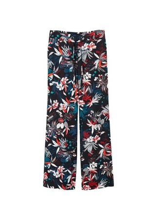 MANGO Floral print trousers