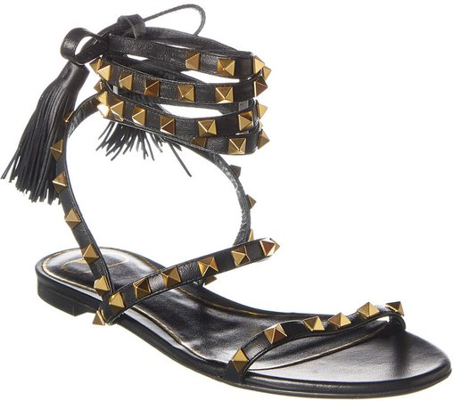 Rockstud Flair Leather Sandal