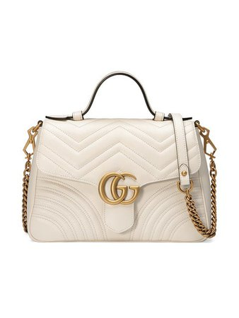 Gucci White GG Marmont Small tote bag