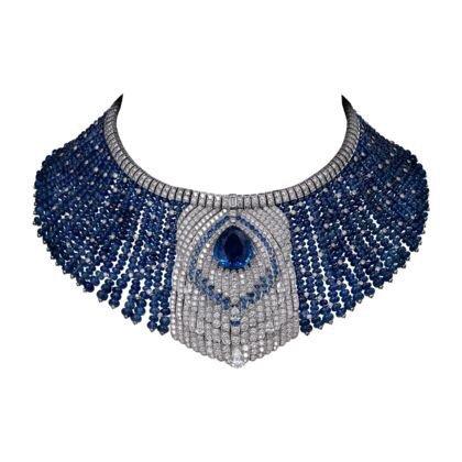 blue necklace cartier