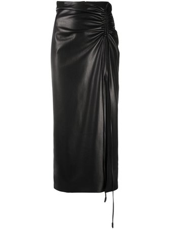 Nanushka Malorie faux-leather Midi Skirt - Farfetch