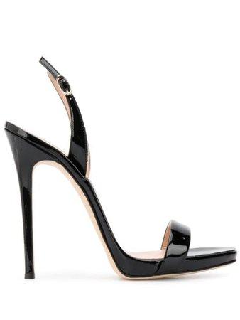 Black Giuseppe Zanotti Sophie Patent Sandals | Farfetch.com