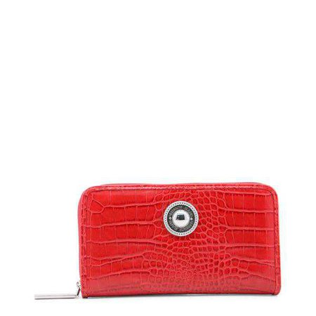 Wallets | Shop Women's Versace Jeans Red Synthetic Leather Purse at Fashiontage | E3VRBPO1_70049_500-266049