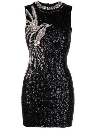 Balmain Crystal And sequin-embellished Sleeveless Dress - Farfetch