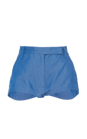 Cotton-Blend Chambray Shorts by Philosophy di Lorenzo Serafini | Moda Operandi