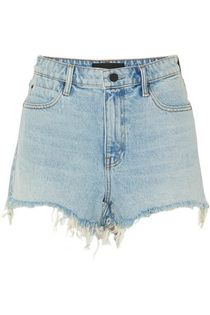 Alexander Wang | Bite frayed denim shorts | NET-A-PORTER.COM