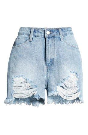 BP. High Waist Destroyed Denim Shorts | Nordstrom