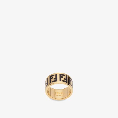Gold-colour ring - FF RING | Fendi