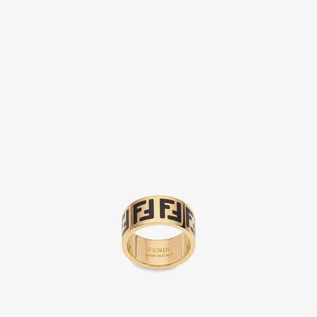 Gold-colour ring - FF RING | Fendi