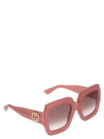 Gucci Gucci 'pop Web' Sunglasses - Pink - 10845770 | italist