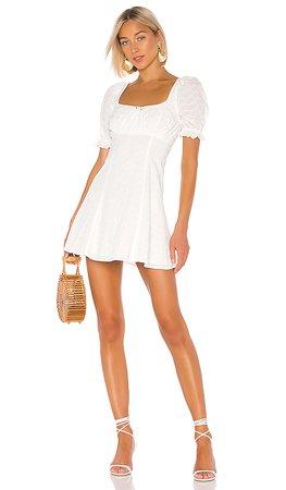 LPA Simona Dress in White   REVOLVE