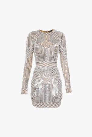 Balmain Bead and sequin mini dress
