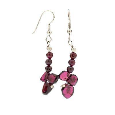 Garnet Gemstone Earrings   Mystic Self LLC