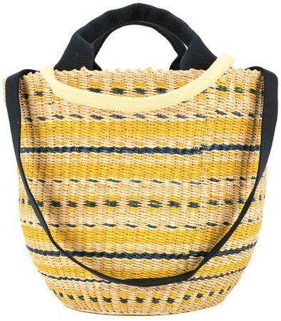 motif round tote bag