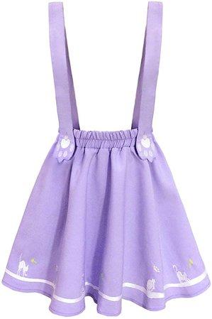 purple pastel kawaii skirt